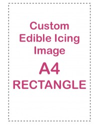 Custom edible icing image A4 RECTANGLE