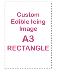 Custom edible icing image A3 rectangle