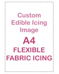 Custom edible icing image A4 Flexible Fabric Icing