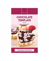 Chocolate Template Chablon mat Hearts