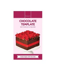 Chocolate Template Chablon mat Rectangle and squares