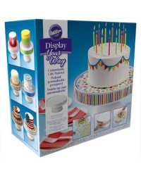 Display your way customisable cake pedestal stand