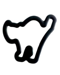 Scaredy cat Grippy cookie cutter by Wilton