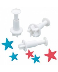 Set 3 Star plunger cutters No1