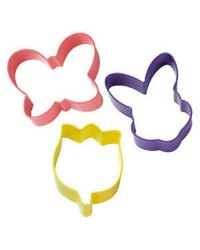 Easter Spring cookie cutter set Bunny Butterfly and Tulip