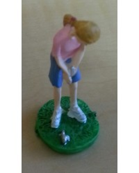 Female golfer cake topper 40mm polystone topper