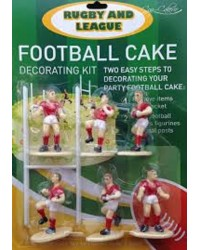 Rugby or league cake topper set Red Jerseys
