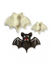 Bat Halloween POP it Cutter Mould set