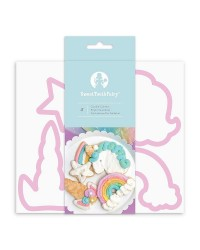 Unicorn and Rainbow cookie cutter set by Sweet Tooth Fairy