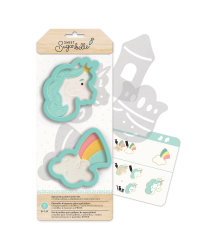 Sweet Sugarbelle Unicorn and Rainbow Cloud Enchanted cookie cutter set 2 cutters