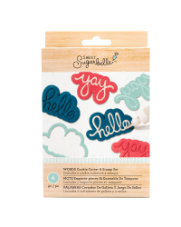 Sweet Sugarbelle Cookie cutter and stamp set Hello and YAY