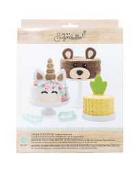 Sweet Sugarbelle cake topper cookie cutter set for unicorn and fun animals