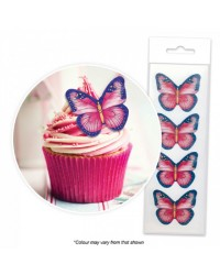 Butterfly Pink and Purple cupcake wafer paper cupcake toppers