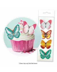 Butterfly Mixed Colours cupcake wafer paper cupcake toppers