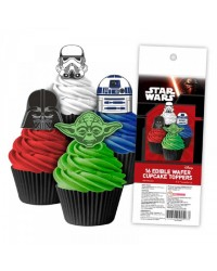 Star Wars pack 16 wafer paper cupcake toppers