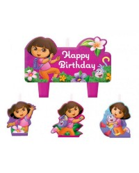 Dora the Explorer set 4 candles