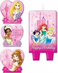 Disney Princess set 4 candles style no 1
