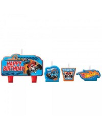 Hot Wheels set 4 candles