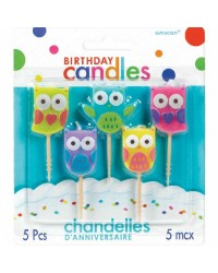 Set 5 pick candles Owls