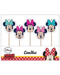 Minnie Mouse 5 pick candle set