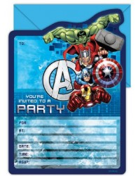 Avengers Party invites Pack of 16 Invitations