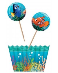 Finding Nemo and Dory cupcake papers and picks