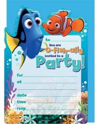 Finding Nemo and Dory party invites (16) invitations