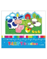Farm Animals feature birthday candle