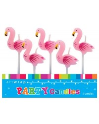 Flamingo 5 candle pick set