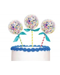 Confetti balloon cake topper kit