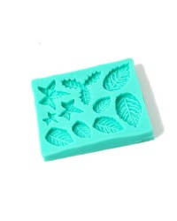 Christmas Leaves silicone mould