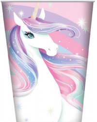 Unicorn Party Cups (8) 250ml