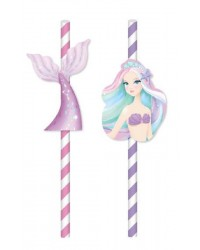 Pretty Mermaid party paper straws (20)