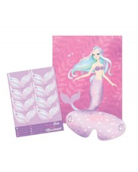 Pretty mermaid party game pin the tail fin