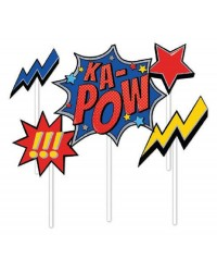 Comic book super heroes cake topper kit