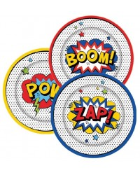 Comic Book Super Heroes party plates (8)