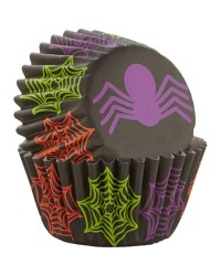 SPIDER and web MINI CUPCAKE LINERS 100 pack