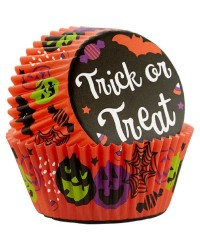 Halloween standard cupcake papers Trick or Treat jack o lantern pumpkins