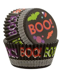 Halloween standard cupcake papers Boo and Bats