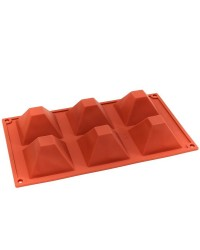 Silicone pyramid dessert or baking mould 70mm
