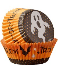 Halloween standard cupcake papers Trick or treat ghost