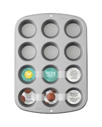 Wilton recipe right non stick standard cupcake or muffin pan bakes 12