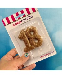 Special Age number candle gold glitter 18