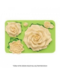 Rose large assorted silicone mould