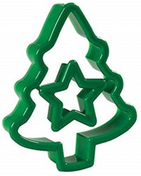 Christmas Tree Cookie cutter with removable mini cutter