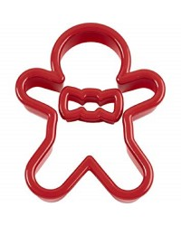 Christmas Gingerbread man Cookie cutter with removable mini cutter