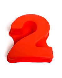 Silicone number two numeral 2 pan