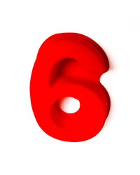 Silicone number six numeral 6 pan
