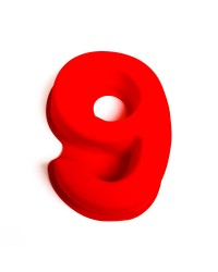 Silicone number nine numeral 9 pan