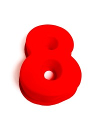 Silicone number eight numeral 8 pan